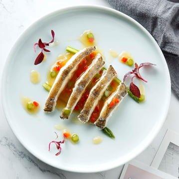 Steamed Alaska Yellowfin Sole with Asparagus