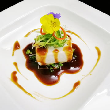 Asian Style Poached Alaskan Black Cod