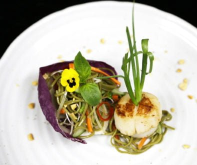 Recipes - Golden Seared Alaska Scallops on Vietnamese Flavored Soba Noodle Salad