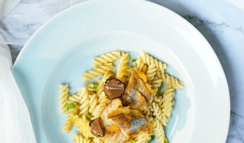 Recipes - Alaska Pollock Pasta with Black Truffles