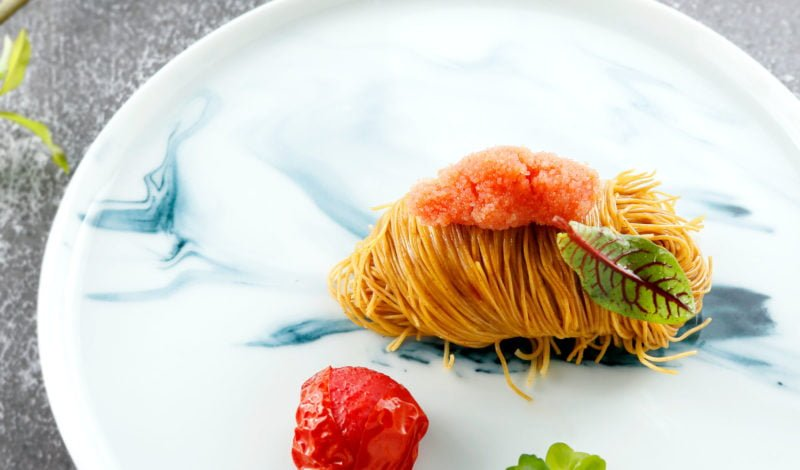 Recipes - Alaska Pollock Roe Noodles with Roasted Cherry Tomatoes