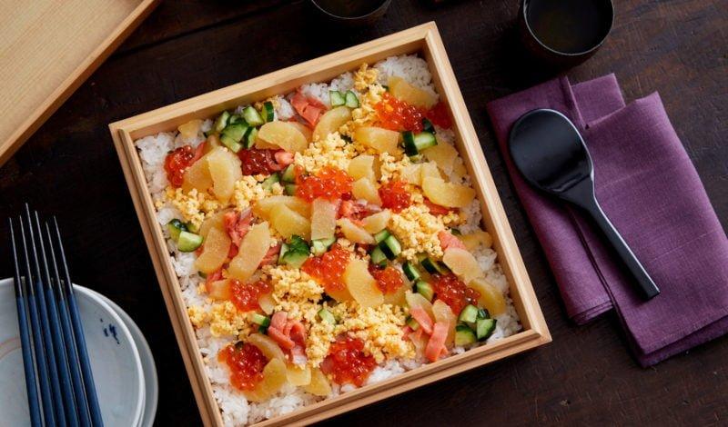 Recipes - Chirashi Sushi with Alaska Kazunoko Herring Roe