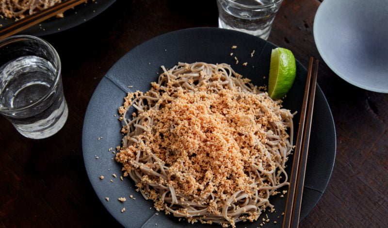 Recipes - Soba (noodle) Dressed with Grilled Alaska Mentaiko Pollock Roe