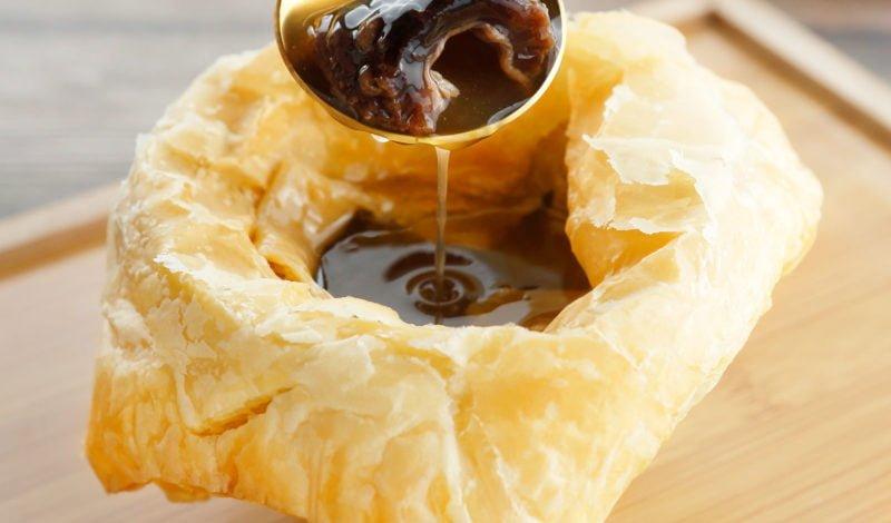 Recipes - Vanilla Puff Pastry Soup with Alaska Sea Cucumber
