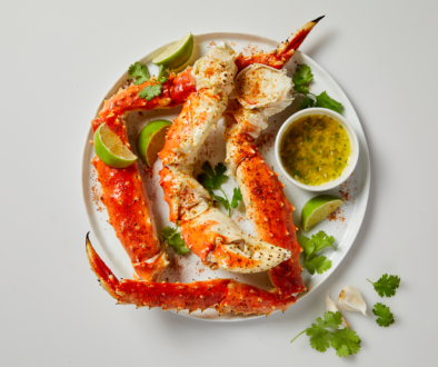 Chili Lime Alaska King Crab with Jalapeno-Cilantro Butter